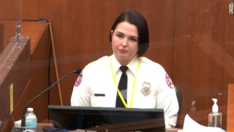 Off duty firefighter Genevieve Hansen said she was desperate and feeling helpless when she saw Floyd die.
