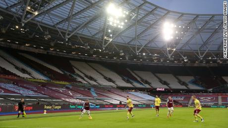 Sporting stadiums have been left eerily quiet in the pandemic, says the West Ham manager.