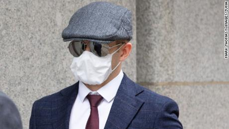 Hannam arrives at the Old Bailey court on August 14, 2020.