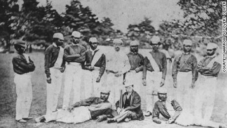 One of the few photographs of the Aboriginal cricket team in England, taken in Swansea in 1868.