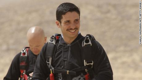Jordanian Prince Hamzah bin al-Hussein attends a media event in the Wadi Rum desert on April 19 2011.
