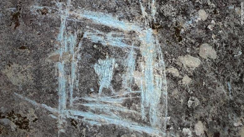 Thousand-year-old Native American rock carvings have been vandalized in the Chattahoochee National Forest