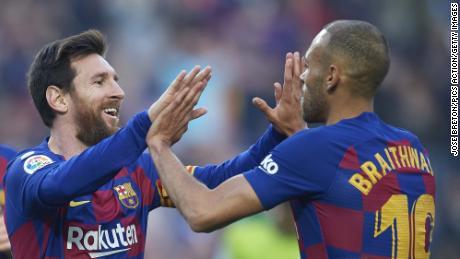 At Barcelona, Braithwaite plays alongside six-time Ballon d'Or winner Lionel Messi.