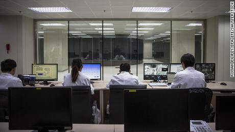 Employees at the National Supercomputer Center in Jinan,  China.