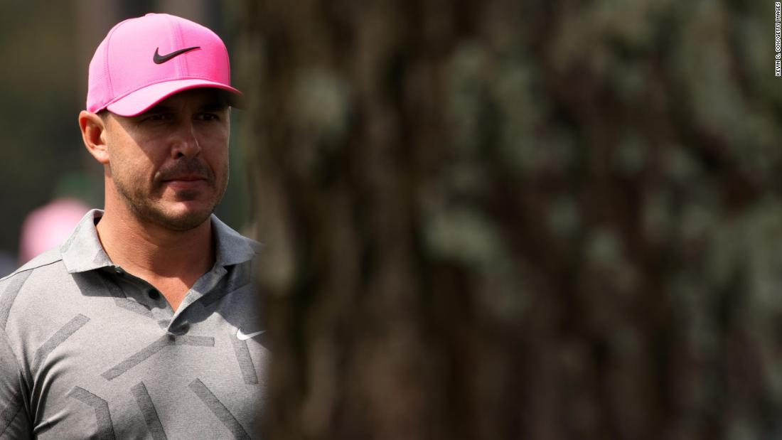 Four-time major winner Brooks Koepka had knee surgery less than a month ago, but he was on the course for Thursday's first round.