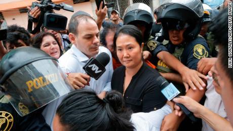 کیکو فوجیموری (ر) حالیہ سروے میں مشترکہ طور پر پہلے آئے تھے لیکن بدعنوانی کی تحقیقات کے تحت ہیں۔