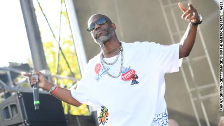 Rapper DMX stages during the 10th annual One Musicfest at the Centennial Olympic Park on September 8, 2019 in Atlanta.