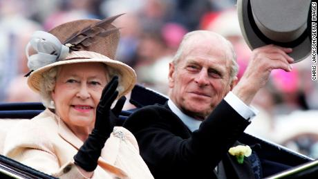 The Queen with Prince Philip in 2005.