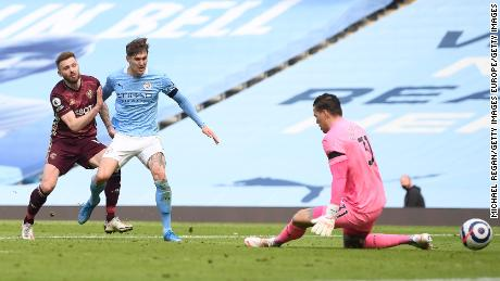 Dallas (left) scored the winner after Ederson.