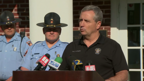 Carroll County Sheriff Terry Langley speaks at a news conference Monday.