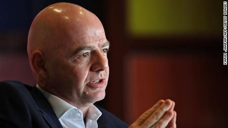 Gianni Infantino warns clubs signed up to the new European Super League.