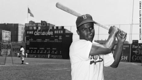 After a short stint in the Negro Leagues, Jackie Robinson signed a contract with the Dodgers organization.