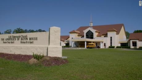 "Life Tabernacle Church in Baton Rouge, where the pastor is ""anti-mask and anti-vaccine."""