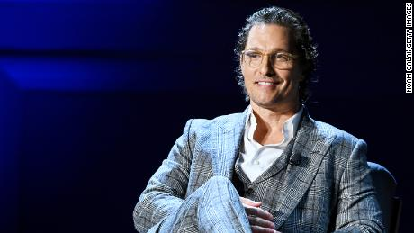 McConaughey speaks onstage during HISTORYTalks Leadership & Legacy presented by HISTORY at Carnegie Hall on February 29, 2020 in New York City.
