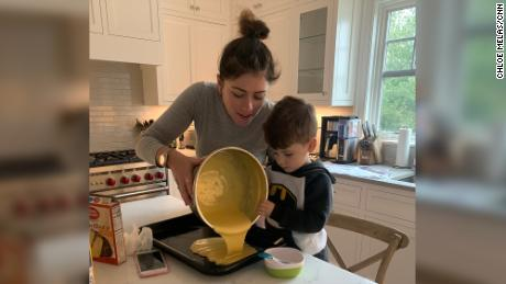 Chloe Melas with her son, age 3, who she conceived via IVF.