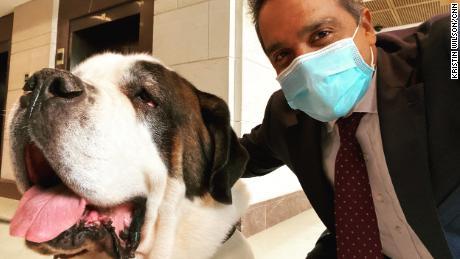 CNN's Manu Raju with Clarence.