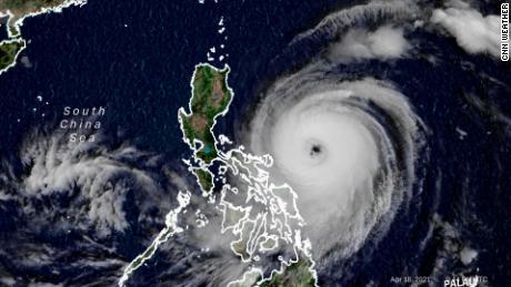 Typhoon Surigae Satellite Image Sunday April 18, 2021