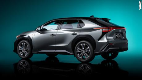 The Toyota BZ4X will be one of a new series of electric vehicles the company is planning.