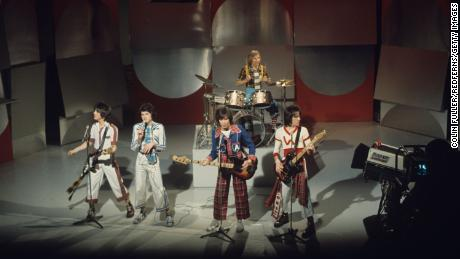 McKeown (second from left) and his bandmates perform on the BBC in 1975.