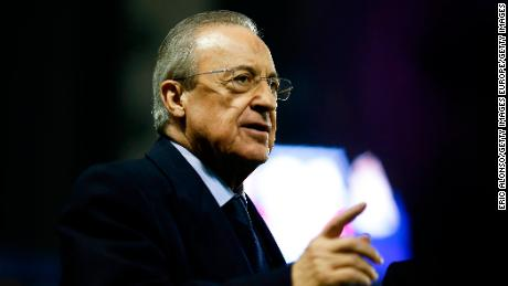 Florenitno Perez, president of Real Madrid, was set to be chairman of the Super League.