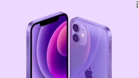 The iPhone 12 now available in purple