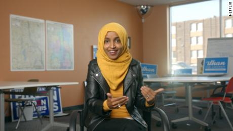 """US Democratic Rep. Ilhan Omar of Minnesota appears in """"Money, Explained."""""""