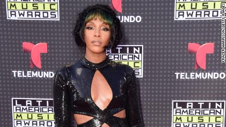 Dawn Richard attends Telemundo's Latin American Music Awards at the Dolby Theatre in Hollywood, California, October 8, 2015.
