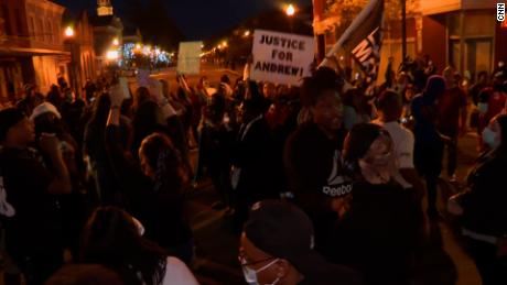 Protesters marched Monday evening after news that the family saw only 20 seconds of body camera footage.