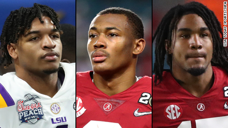 A solid set of wide receivers includes Ja & # 39;  Marr Chase, left, DeVonta Smith and Jaylen Waddle.
