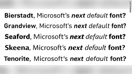 Microsoft is retiring its default font. It wants your help choosing a new one