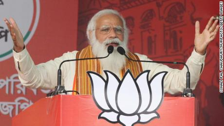 Prime Minister Narendra Modi's political party continued to hold election rallies in April despite the  crisis.