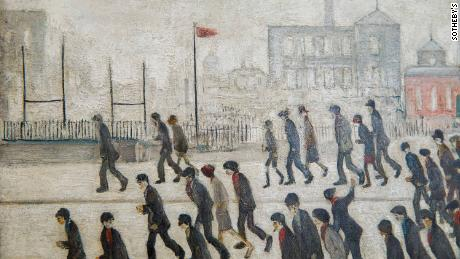 L.S. Lowry's 'Going to the Match' painting expected to sell at auction for up to $4 million