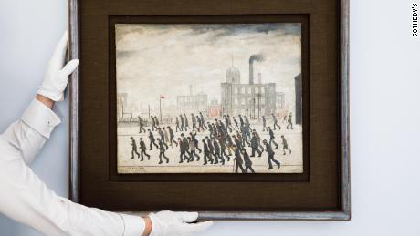 The painting is one of the earliest known, if not the earliest, depictions of one of LS Lowry's most iconic and timeless motifs - that of spectators crowding for a sporting occasion.