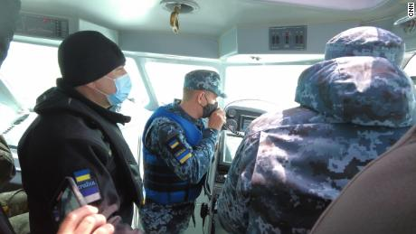 Russian forces radioed the Ukrainian patrol boat to warn it to stay away.