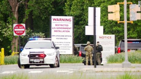 Armed man shot by officers outside Central Intelligence Agency  headquarters