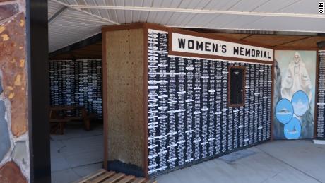 More than 15,000 names adorn the Women's Memorial wall.
