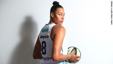 Basketball player Liz Cambage poses during a portrait session in Cairns, Australia on November 25, 2020