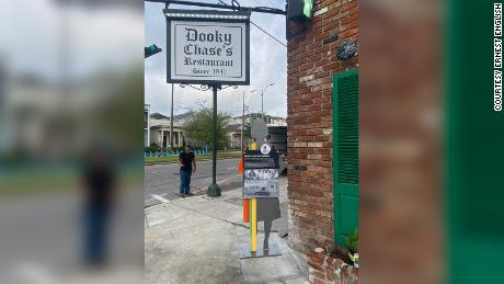 The marker outside of Dooky Chase's Restaurant.