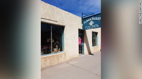 Flower Basket, Christine Martinez's flower shop in Gallup, New Mexico.