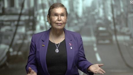 "Transgender activist Felicia ""Flames"" Elizondo is interviewed in the FX docuseries 'Pride' (FX)."