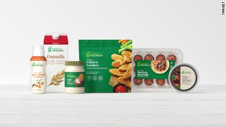 Target's new collection of plant-based foods.
