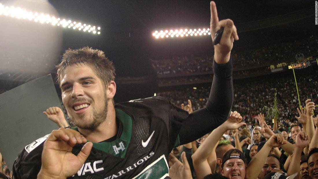 """<a href=""""https://www.cnn.com/2021/05/11/us/colt-brennan-car-accident-death-trnd/index.html"""" target=""""_blank"""">Colt Brennan,</a> a former football quarterback who starred at the University of Hawaii, died at a California hospital at the age of 37, his family confirmed to CNN on May 11. His sister, Carrera Shea, said he had been in a long-term rehab facility and relapsed. Brennan set the NCAA single-season record for touchdown passes when he threw 58 of them in 2006. That record was eclipsed by LSU's Joe Burrow in 2019."""