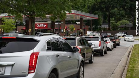 Gas stations in the Southeast run out of gas as people panic-buy fuel