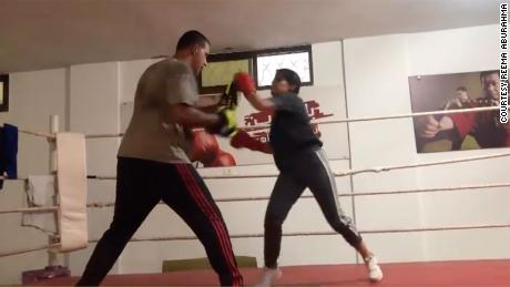 """""""We changed the way the society is looking at those girls,"""" says boxing coach Osama Ayob."""