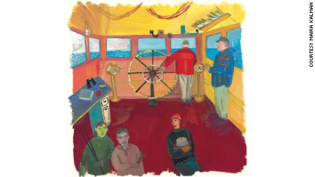 Kalman's picture book told the story of the fireboat and its crew.