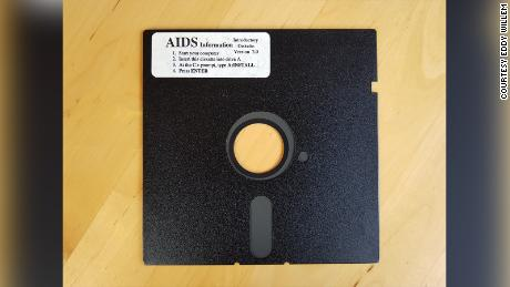 One of the original 20,000 floppy discs with ransomware