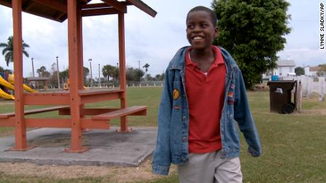 Damon Weaver walked in a park near his home in Pahokee, Florida, on January 13, 2009, when he was 10.