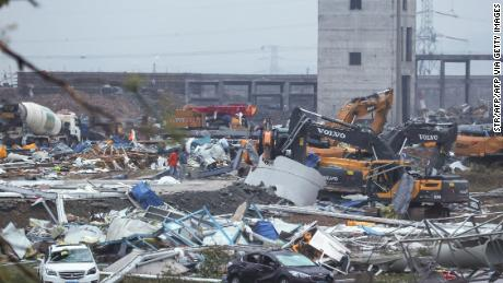 A tornado slammed into the Chinese city of Wuhan on May 15.