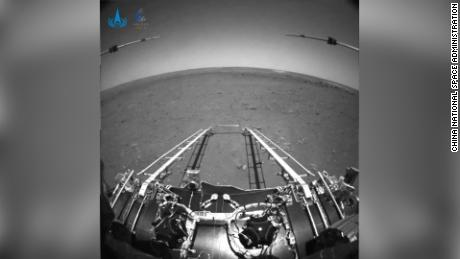 China releases the first images taken by its Mars rover