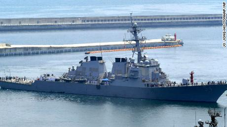 US destroyer backs up Biden's tough words in South China Sea
